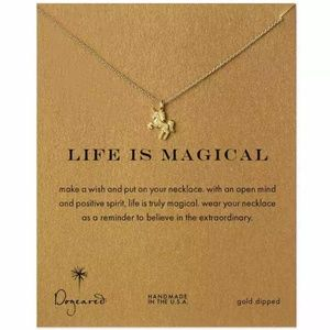 Jewelry - Life is Magical Unicorn Dainty Gold Necklace B2